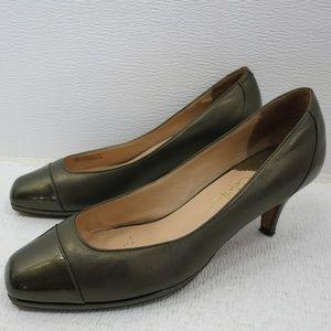 Cole Haan Bronze Leather Dress Heels Pumps 8 B